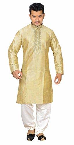 Herren Indian Gold Sherwani Kurta Kameez für Bollywood Thema & Kostüm Party Geschäften Bradford London 766