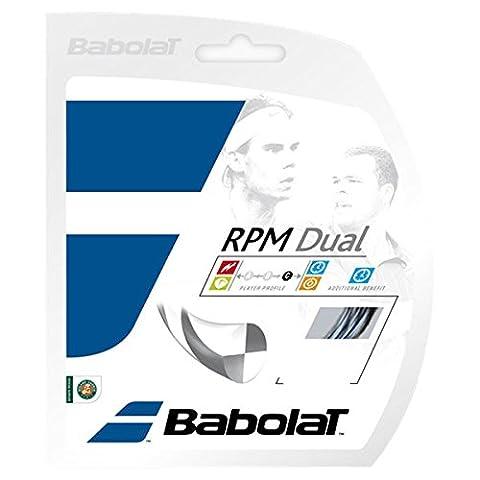 Babolat RPM Dual–Schwarz/Silber–Tennis Saite–12M Set