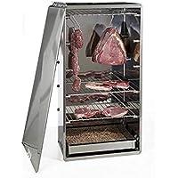 Reber 10030 N Ahumador Tamaño Mediano, Carne, Pescado, Queso, Verduras, Acero Inoxidable, Color Gris