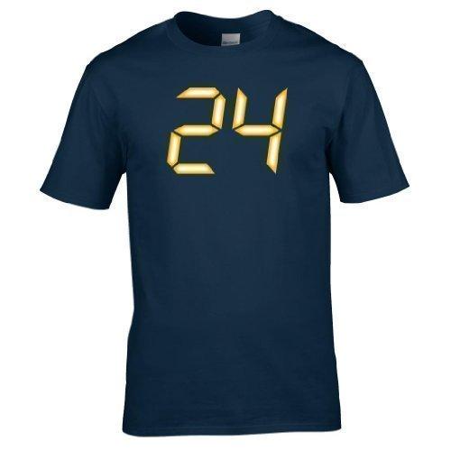 24 logo CTU voll Bedrucktes T-shirt Marineblau
