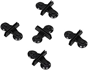 Generic Divider Sheet Holder Suction Cup For Aquarium Fish Tank - Black (5Pcs)