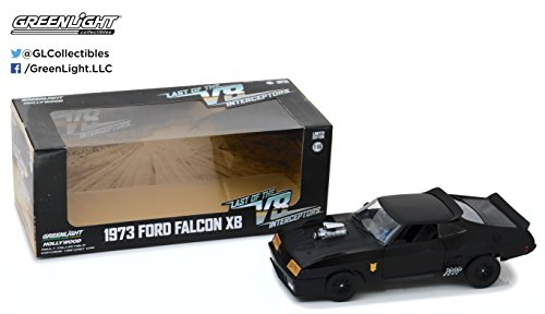 Greenlight 1:18 Last of The V8 Interceptors (1979) -1973 Ford Falcon XB Druckguss-Fahrzeug, schwarz (Ford 1979)