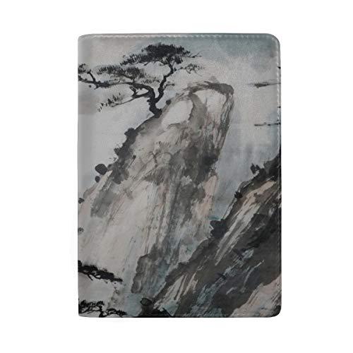 Schöne Kunstwerke, Aquarell blockieren drucken Passinhabers Abdeckung Fall Reisegepäck Reisepass Brieftasche Kartenhalter aus Leder für Männer, Frauen, Kinder Familie -