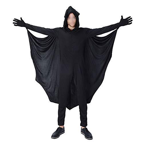 Ansemen Halloween Kostüme - Kind Erwachsene Gemütlich Fledermaus Overall Mädchen Jungen Frau Männer Familie Vampir Cosplay Kostüm - Fledermaus Frau Kostüm Kinder