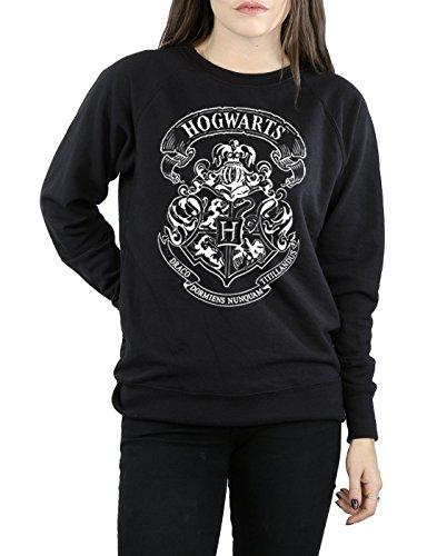 Harry Potter Damen Hogwarts Crest Sweatshirt Schwarz