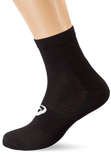 Asics Quater (Socken 3 Paar), Schwarz, Größe 39-42 (Running Asics Socken)