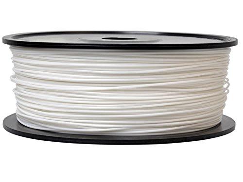 Firstcom PLA Filament (1kg Rolle) für 3D Drucker MakerBot RepRap Ultimaker u.v.m (1.75mm, weiß)