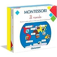 Clementoni - Montessori-Il Mundo, Juego Educativo, Multicolor, 16210