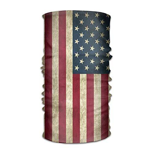 Vintage amerikanische Flagge Schal Stirnbänder Bandana Maske Neck Gaiter Schweißband -