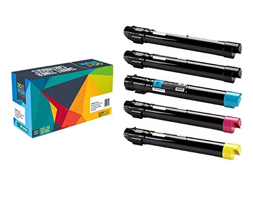 Do it Wiser ® Compatible Toner Cartridges 5 Pack For Xerox Phaser 7800 7800DN 7800DX 7800GX - 106R01569 106R01566 106R01567 106R01568 -Black Cyan Magenta Yellow +Black