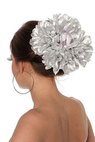 Pince à cheveux Fleur, argent