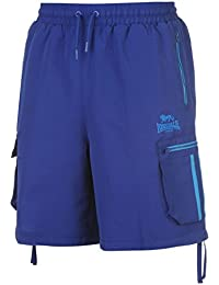 Lonsdale 2 A Raya Cargo Shorts Hombre Cinturilla Elástica Pantalones Cortos Ropa