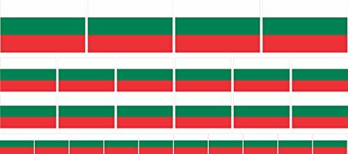 n Set glatt - 4x 51x31mm+ 12x 33x20mm + 10x 20x12mm- selbstklebender Aufkleber - Bulgarien - Sticker fürs Büro, Schule und zu Hause - Set of 26 ()