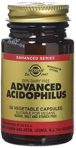 Solgar Advanced Acidophilus Vegetable Capsules - 50 Capsules