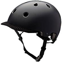 Kali Protectives 0250115116 Casco de Ciclismo Urbano con Visera Unisex, Negro Matte, Talla:
