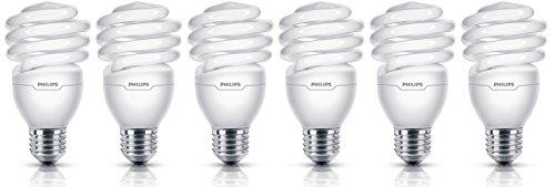Philips Energiesparlampe Tornado 23 W ersetzt 103 W E27, 6er-Pack, tageslichtweiß 8727900926019 -