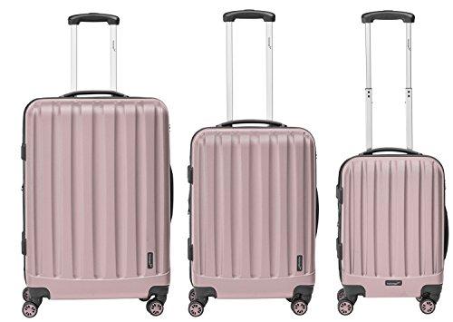 Packenger Velvet Koffer, Trolley, Hartschale  3er-Set in Mauve, Größe M, L und XL