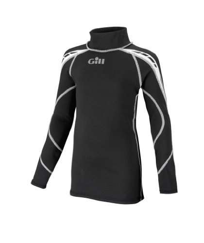 Gill Thermal (Gill JUNIOR Hydrophobe Thermal Long Sleeve Top BLACK 4521J Sizes- - Junior Medium)