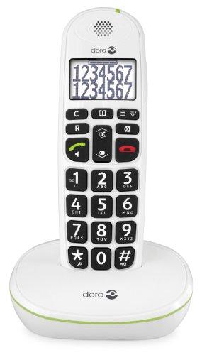 Doro phoneeasy 110 telefono cordless con tasti grandi e audio amplificato (x 1 / bianco)