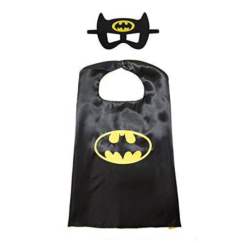 Kiddo Care 1 Set of Batman superhero costume, mask, cape, satin (Boys)