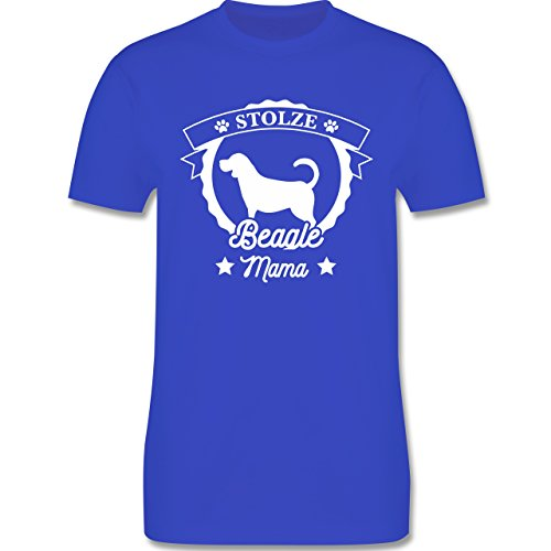 Shirtracer Hunde - Stolze Beagle Mama - Herren T-Shirt Rundhals Royalblau
