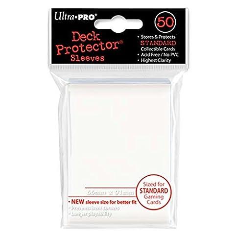 Ultra Pro Deck Protectors (Standard) Ultra Pro Paquet de 50pochettes de protection pour cartes Pokémon/Magic, blanc, dimensions: 66 x 91mm