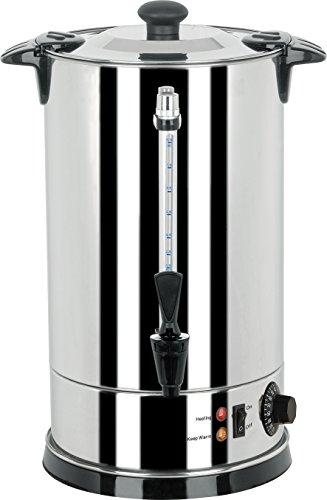 YATO Profi Glühweinkessel 16 Liter 2600 Watt Edelstahl Glühweinkocher Glühweinautomat Heißgetränkeautomat Heiwasserkessel Wasserkocher Glühweintopf
