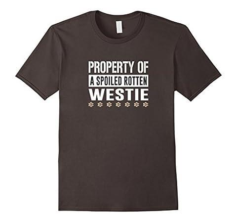 Property of a Spoiled Rotten Westie T-shirt Male 3XL Asphalt