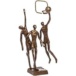 Escultura de baloncesto antiguo figura de bronce de estilo moderno trofeo de la