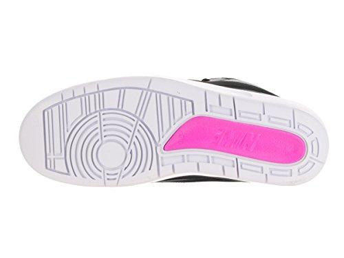 Nike Air Jordan 2 Retro, Scarpe da Basket Uomo, Talla Nero (Negro (Black / Photo Blue-White-Fr Pink))