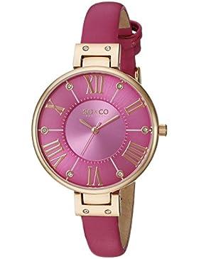 So & Co SOHO New York Damen-Quarzuhr mit Rosa Zifferblatt Analog Display und Pink Leder Strap 5091.5
