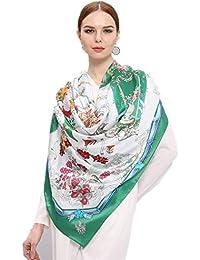 285a06d6ce64 Junjiagao Serviette carrée crème solaire foulard en soie châle écharpe  carrée multifonctions