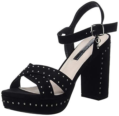 XTI 32056, Zapatos con Tira de Tobillo para Mujer, Negro, 39 EU