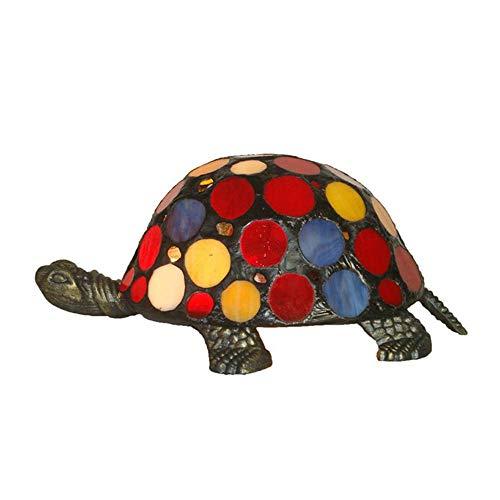Hai Ying ♪ * Europäische Tiffany-Art-Hohle Schildkröte-Nachtlicht Einfache kreative glänzende Farbe Innenbeleuchtung Wohnzimmer Schlafzimmer Studie Villa Light 220 / 240W A +++ ♪