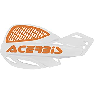 Acerbis Vented Uniko Handguards, White/Orange 2016