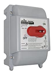 Leviton Ds30-fax 30 Amp, 600 Volt, Fused Safety Disconnect Switch, 3 Pole, Ip67, Watertight, Gray By Leviton