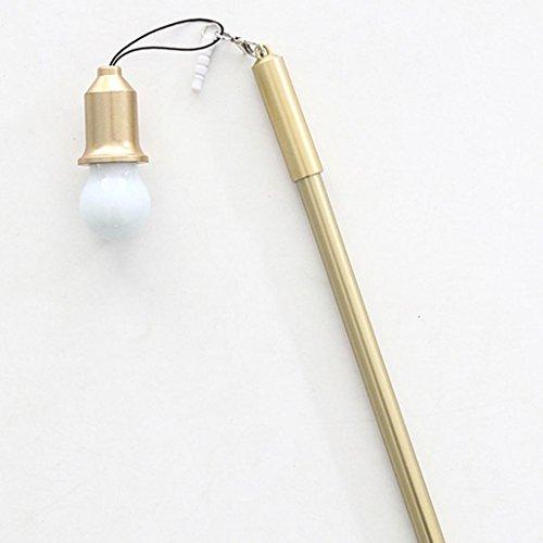 AuBergewohnlich Gaddrt 0,38mm Nette Kreative Einzigartige Glühbirne Neutral Staubstecker  Gel Stift Schule (Gold)