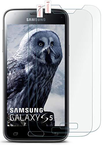 moex 2X 9H Panzerfolie für Samsung Galaxy S5 Mini | Panzerglas Bildschirm Glasfolie [Tempered Glass] Screen Protector Glas Bildschirmschutz-Folie für Samsung Galaxy S5 Mini Schutzfolie