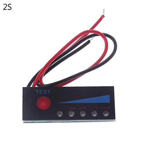 JENOR 18650 Lipo Lipo Litio 12V Indicador nivel batería