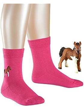 FALKE Mädchen Socken Family Pony mit Schleich Figur
