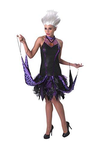 Rubie's 3810250 - Ursula Adult, S, schwarz/lila (Ursula Für Erwachsene Damen Kostüm)