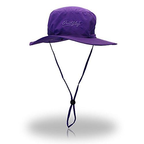 Fischerhüte für Mann und Frau Oval Schnell trocknender Fischerhut Outdoor Sunscreen Waterproof Wanderschuh. Campen und Wandern (Farbe : Lila)