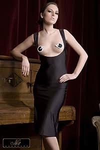 Robe fendue Mathilde - Small, Noir