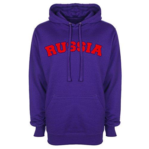 Russia tifoso Sport Felpa con cappuccio Purple