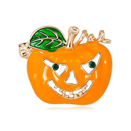 KENYG Halloween-Brosche, europäisch und amerikanisch, zarte Kürbiskopf-Brosche, Anzugnadeln