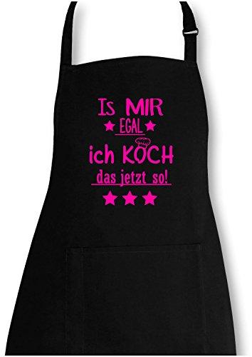 EZYshirt® Is mir Egal! Ich Koch das jetzt so Grillschürze (Kochen Vegetarische Druck)