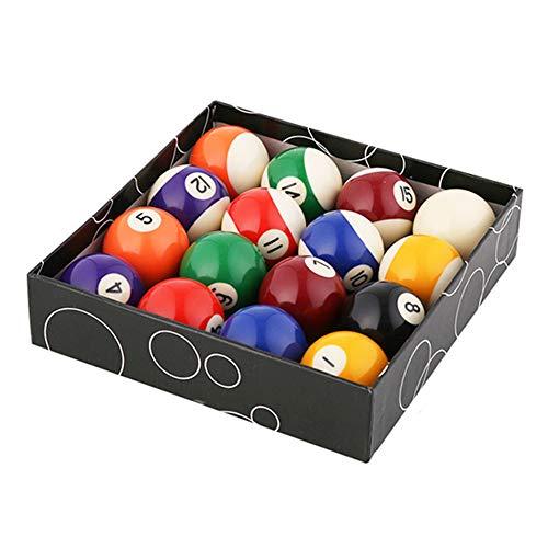 WXH Billard/Pool Balls Regulation, Premium Profi Billardkugel Billardkugel Set, komplett mit 16 Kugeln, Art Number Style, für Indoor Match Game