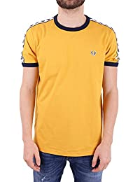 Fred Perry Men's FPM634725480 Yellow Cotton T-Shirt