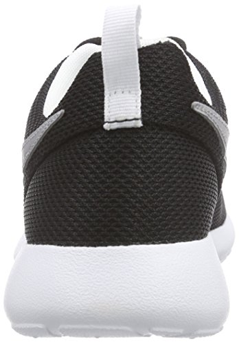 Nike Roshe One (Gs), Chaussures Multisport Indoor mixte enfant Noir (Black/Metalic Silver/White/White 021)
