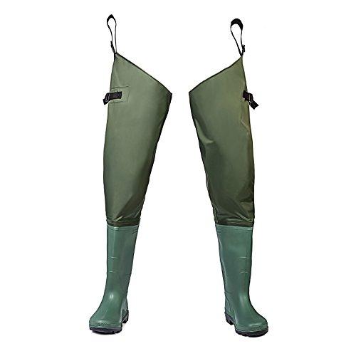 FISHINGSIR Hip Wathose Anglerhose Watstiefel Watt Fisch Teich Gummi PVC Nylon River Füßen 38-46
